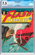 Golden Age (1938-1955):Superhero, Flash Comics #17 (DC, 1941) CGC VF- 7.5 Off-white to white pages....