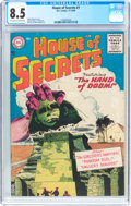 Silver Age (1956-1969):Horror, House of Secrets #1 (DC, 1956) CGC VF+ 8.5 Off-white to white pages....
