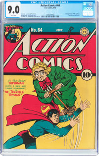 Action Comics #64 (DC, 1943) CGC VF/NM 9.0 White pages