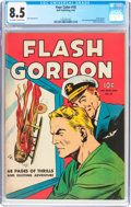 Golden Age (1938-1955):Science Fiction, Four Color #10 Flash Gordon (Dell, 1942) CGC VF+ 8.5 Off-white towhite pages....