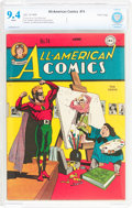 Golden Age (1938-1955):Superhero, All-American Comics #74 (DC, 1946) CBCS NM 9.4 White pages....