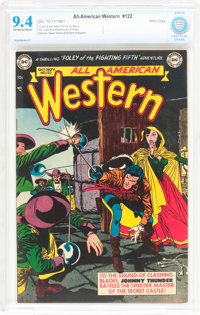 All-American Western #122 Ohio Pedigree (DC, 1951) CBCS NM 9.4 Off-white to white pages