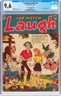 Golden Age (1938-1955):Humor, Top-Notch Comics #40 Mile High Pedigree (MLJ, 1943) CGC NM+ 9.6 White pages....