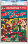 Golden Age (1938-1955):Superhero, Shield-Wizard Comics #8 (MLJ, 1942) CGC FN/VF 7.0 Off-white pages....
