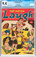 Golden Age (1938-1955):Humor, Top-Notch Comics #39 Mile High Pedigree (MLJ, 1943) CGC NM 9.4 White pages....