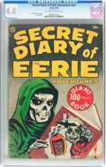 Golden Age (1938-1955):Horror, Secret Diary of Eerie Adventures #nn (Avon, 1953) CGC VG 4.0Off-white to white pages....
