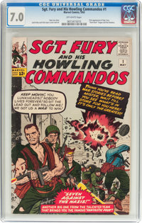 Sgt. Fury and His Howling Commandos #1 (Marvel, 1963) CGC FN/VF 7.0 Off-white pages