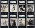 "Non-Sport Cards:Sets, 1939 Carreras ""Glamour Girls of Stage and Films-Large"" SGC HighGrade Complete Set (36). ..."