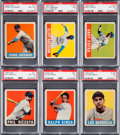 Baseball Cards:Lots, 1948 Leaf Baseball Collection (14) With HoFers. ...
