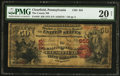 National Bank Notes:Pennsylvania, Clearfield, PA - $50 1875 Fr. 446 The County NB Ch. # 855. ...