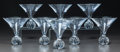 Art Glass:Other , Eight St. Louis Clear Cut-Glass Martini Glasses. Late 20th/ early21st century. Stenciled CRISTAL SAINT LOUIS, FRANCE. Ht. ...(Total: 8 Items)