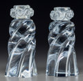 Art Glass:Other , Pair of Baccarat Clear Glass Candlesticks. Late 20th century.Stenciled BACCARAT, FRANCE. Ht. 6-1/2 in.. ... (Total: 2 Items)