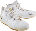 Basketball Collectibles:Others, 2005-06 LeBron James Game Worn, Signed Cleveland CavaliersShoes....