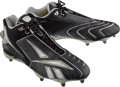 Football Collectibles:Others, 2007 Eli Manning Game Worn New York Giants Cleats - Super Bowl Championship Season!...