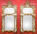 Furniture, A Pair of Monumental Louis XV-Style Carved Giltwood Pier Mirrors. 80 h x 44 w inches (203.2 x 111.8 cm). ... (Total: 2 Items)
