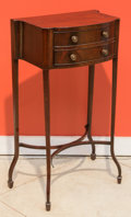 Furniture , A Late Edwardian Mahogany Side Table, early 20th century. 29 h x 14 w x 10 d inches (73.7 x 35.6 x 25.4 cm). ...