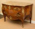 Furniture , A Louis XV-Style Mahogany, Satinwood, Marquetry and GiltBronze-Mounted Commode, 19th century. Marks: (pseudo marks forPier...