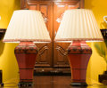 Decorative Arts, Continental, A Pair of Chinese-Style Red Lacquer Table Lamps, 20th century.32-1/2 inches high (82.6 cm). ... (Total: 2 Items)