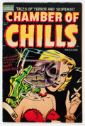 Golden Age (1938-1955):Horror, Chamber of Chills #19 (Harvey, 1953) Condition: VG....