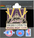 Baseball Collectibles:Tickets, 1996 Los Angeles Lakers Opening Night Full Ticket and Pin - SenateSeat....
