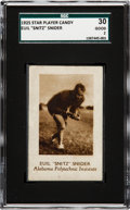 """Football Cards:Singles (Pre-1950), 1925 Star Player Candy Euil """"Snitz"""" Snider SGC 30 Good 2 - OnlyThree SGC/PSA Graded Examples! ..."""