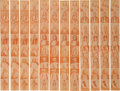 "Non-Sport Cards:Sets, 1930's R184-2 ""Indian Chiefs"" Complete Sets (4) - In Uncut Strips...."