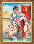 Movie/TV Memorabilia:Original Art, An Ernest Borgnine Enormous Clown Oil Painting, Circa 1980s....