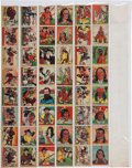"Non-Sport Cards:Sets, 1930's R128-2 ""Series of 48"" Native American/Western Complete Set(48) In Uncut Strips. ..."