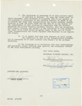 "Movie/TV Memorabilia:Documents, An Errol Flynn Signed Contract for ""Istanbul.""'..."
