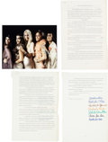 Music Memorabilia:Autographs and Signed Items, [Frank Zappa] GTOs Signed Contract (1968)....