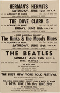 Music Memorabilia:Posters, The Beatles Shea Stadium Concert Poster (1965)....