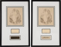 Music Memorabilia:Autographs and Signed Items, Beatles - John Lennon Signature and Sketch....