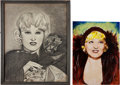 Movie/TV Memorabilia:Original Art, A Mae West Set of Fan Art, 1938, 1960s.... (Total: 6 Items)