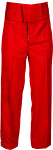 Music Memorabilia:Costumes, James Brown Stage-Worn Red Pants....