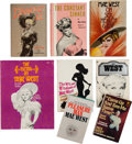 Movie/TV Memorabilia:Documents, A Mae West Collection of Books By or About Her, 1940s-1970s....