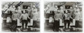 """Movie/TV Memorabilia:Autographs and Signed Items, A Pair of Cast-Signed Black and White Photographs from """"Star Trek.""""..."""
