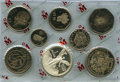 Mexico, Mexico: Republic Eight-Piece Proof Libertad Onza silver andCentavos Peso copper-nickel Set 1982-83,... (Total: 8 coins)