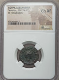 Ancients:Roman Provincial , Ancients: EGYPT. Alexandria. Severina, wife of Aurelian (Augusta,AD 274-275). BI tetradrachm. NGC Choice XF....