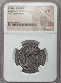 Ancients:Roman Provincial , Ancients: SYRIA. Antioch. Augustus (27 BC-AD 14). AR tetradrachm.NGC VF....