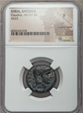 Ancients:Roman Provincial , Ancients: SYRIA. Antioch. Claudius (AD 41-54). Æ 22mm. NGC Fine,countermark....