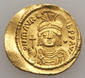 Ancients:Byzantine, Ancients: Maurice Tiberius (AD 582-602). AV solidus (4.27 gm). GoodVF...