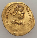 Ancients:Byzantine, Ancients: Constans II (AD 641-668). AV tremissis (1.45 gm). VF...