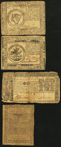 Colonial Notes:Continental Congress Issues, Continental and Colonial Paper Money.. ... (Total: 4 notes)