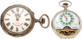 Movie/TV Memorabilia:Instruments , An Ernest Borgnine Pair of Pocket Watches, Circa 1900s.... (Total:2 Items)