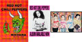Music Memorabilia:Posters, Three Red Hot Chili Peppers Posters (1985/1989).... (Total: 3Items)