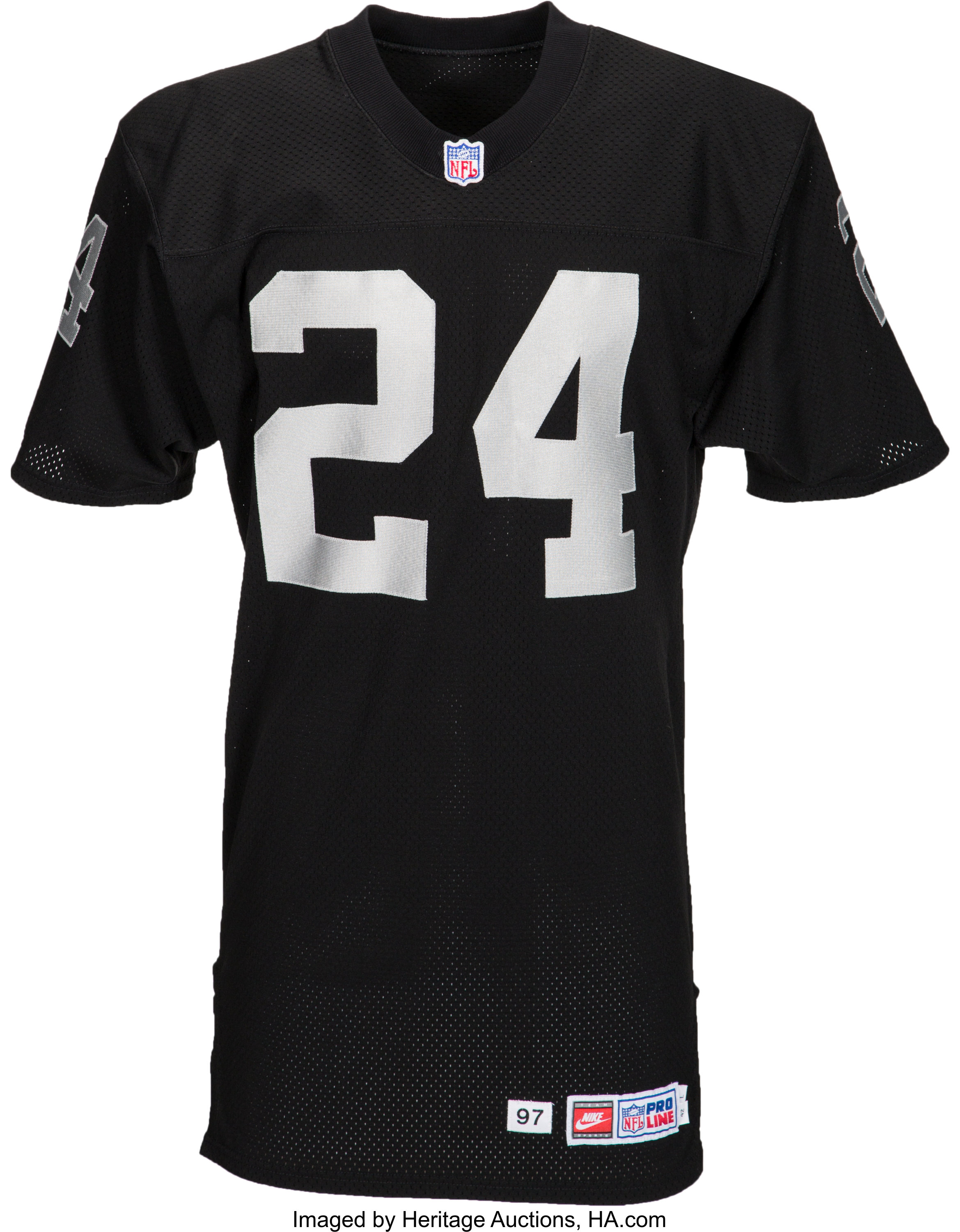 promo code 57ad8 880ef 1998 Charles Woodson Game Worn Oakland Raiders Rookie Jersey ...