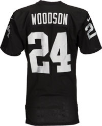 promo code 71a5b 177a5 1998 Charles Woodson Game Worn Oakland Raiders Rookie Jersey ...