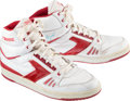 Basketball Collectibles:Uniforms, 1980's Dominique Wilkins Signed Game Worn Sneakers....