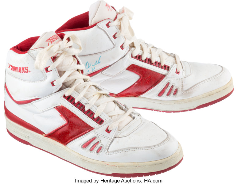 8b40512b202 1980 s Dominique Wilkins Signed Game Worn Sneakers.... Basketball ...