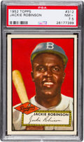 Baseball Cards:Singles (1950-1959), 1952 Topps Jackie Robinson #312 PSA NM 7.5....
